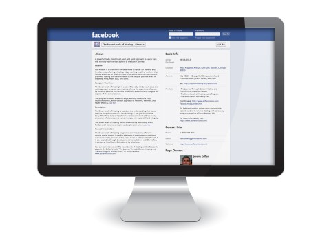 Facebook Page Design: About The Seven Levels of Healing
