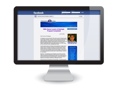 Facebook Page Design: The Seven Levels of Healing Updates Tab