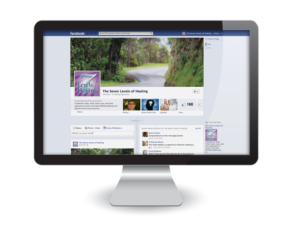 Facebook Page Design: The Seven Levels of Healing
